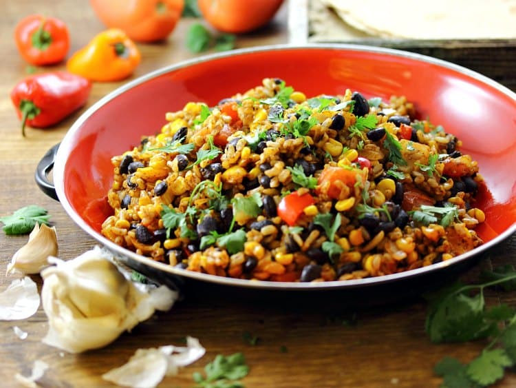 Rice And Beans Healthy  Mexican Fried Brown Rice