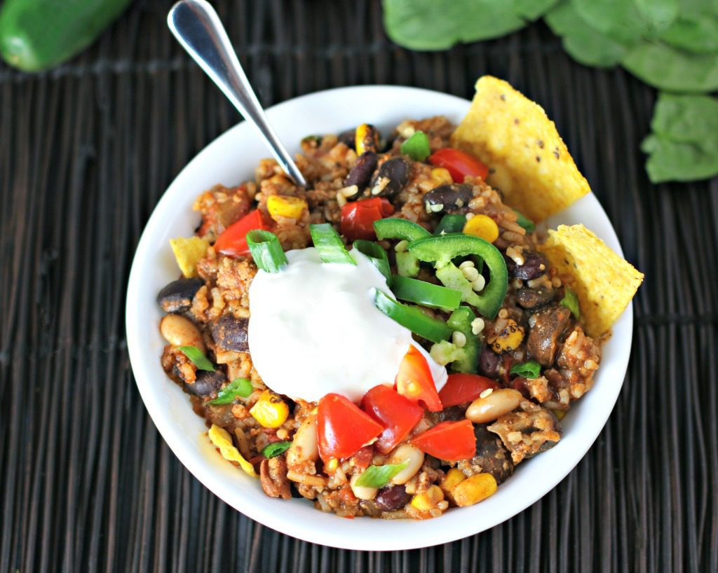 Rice And Beans Healthy  e Pan Healthy Turkey Beans and Rice Culinary Envy