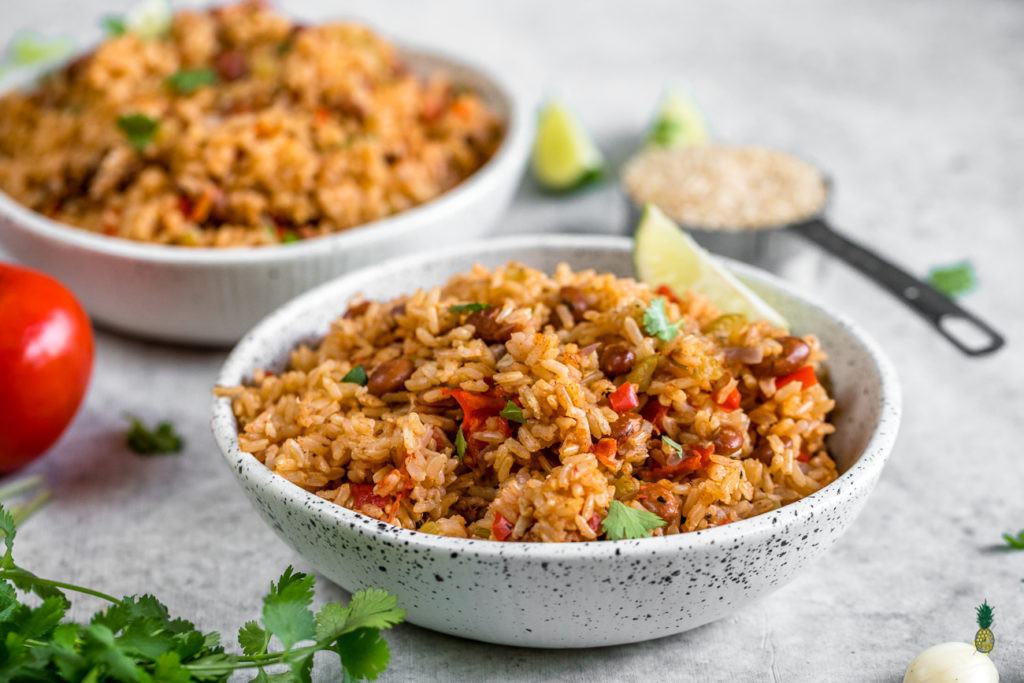 Rice And Beans Healthy  Vegan Spanish Rice and Beans