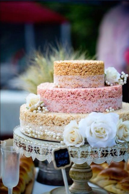 Rice Krispie Wedding Cakes  25 Tasty And Easy To Make Rice Krispie Wedding Cakes
