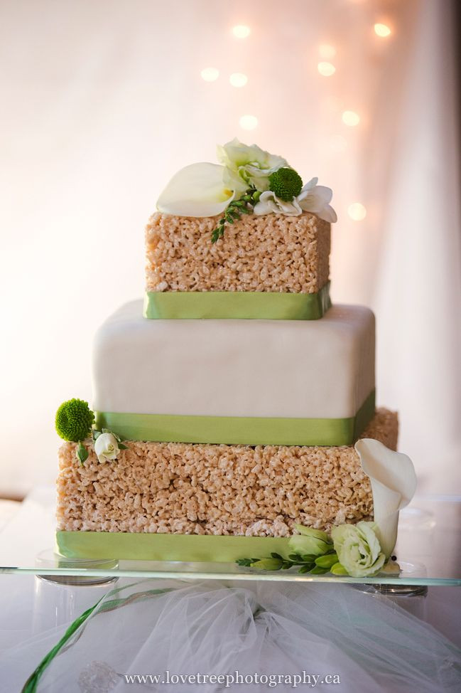 Rice Krispie Wedding Cakes  rice krispie wedding cake