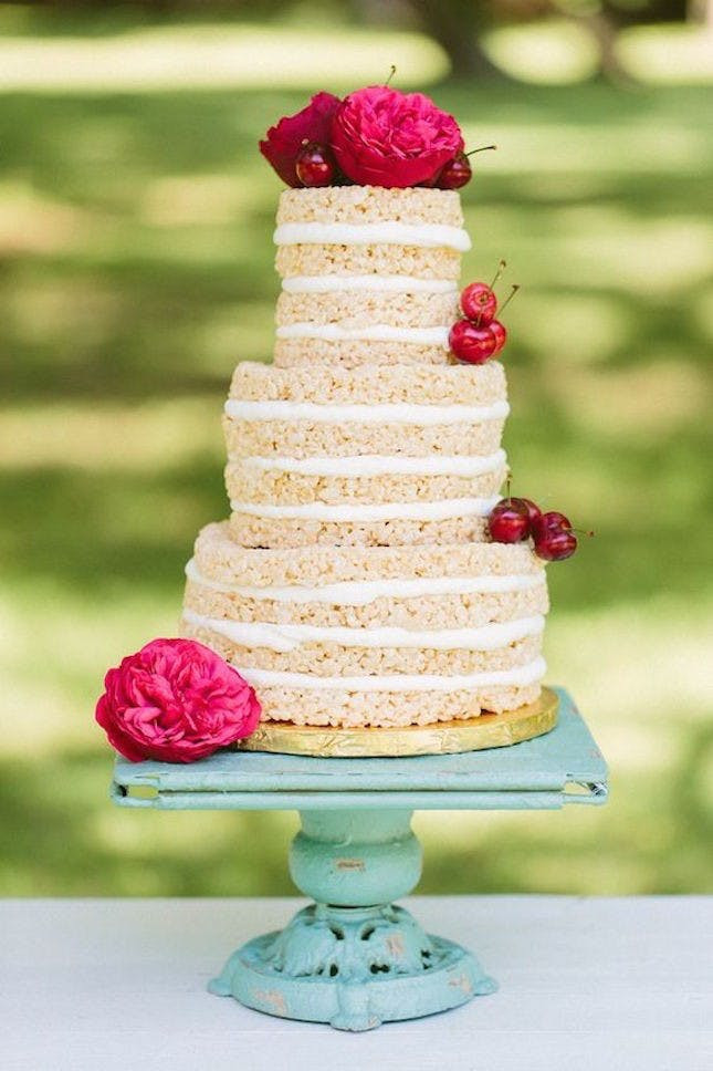 Rice Krispie Wedding Cakes  13 Alternative Wedding Cake Ideas