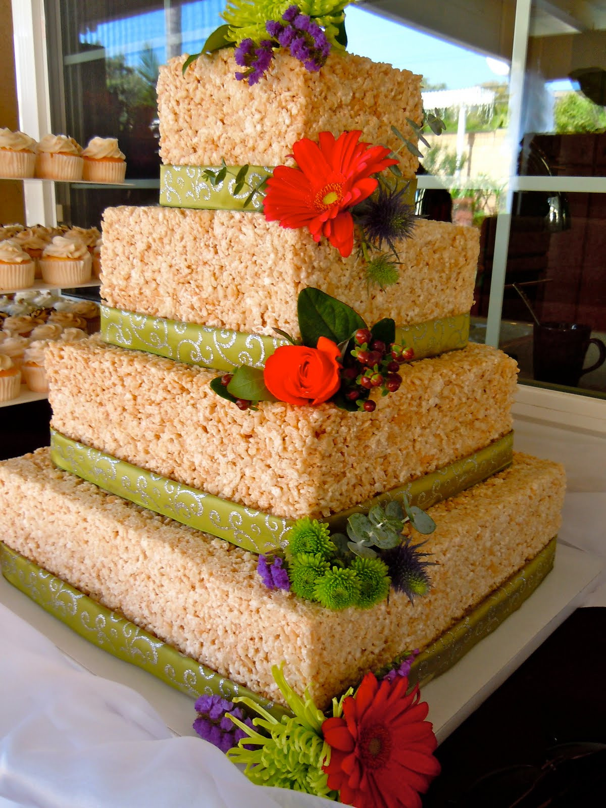 Rice Krispie Wedding Cakes  Carla Buchanan Designs Rice Krispie Wedding Cake My