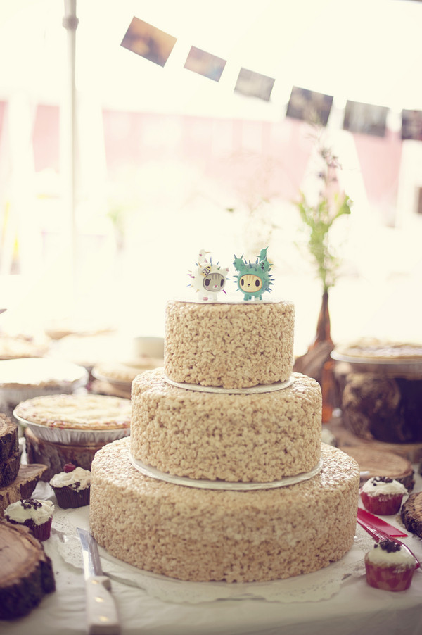 Rice Krispie Wedding Cakes  Have a three tier Rice Krispies treat as your wedding cake