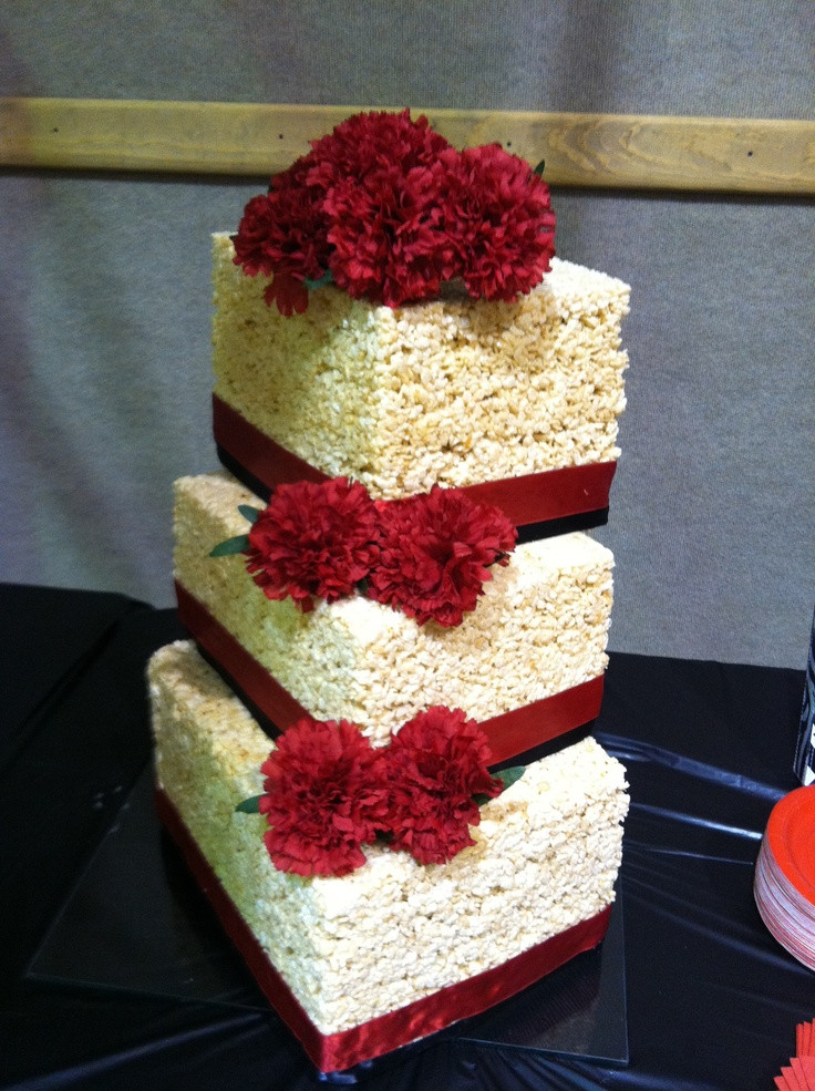 Rice Krispie Wedding Cakes  18 best Cake Wedding Rice Krispie Examples images on