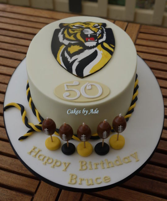 Richmond Wedding Cakes  Richmond Football Club cake June 2012 Cake by Cakes by
