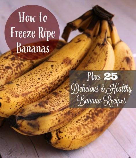 Ripe Banana Recipes Healthy  How to Freeze Bananas 25 Healthy Banana Recipes