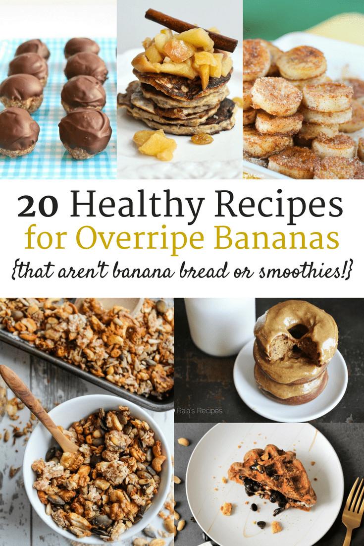 Ripe Banana Recipes Healthy  20 Healthy Ripe Banana Recipes that aren't banana bread