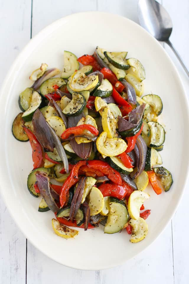Roasted Summer Vegetables  Roasted Summer Ve ables The Pretty Bee