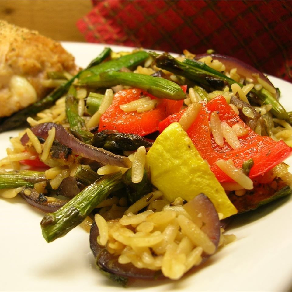 Roasted Summer Vegetables Recipe  Roasted Summer Ve able Orzo recipe All recipes UK