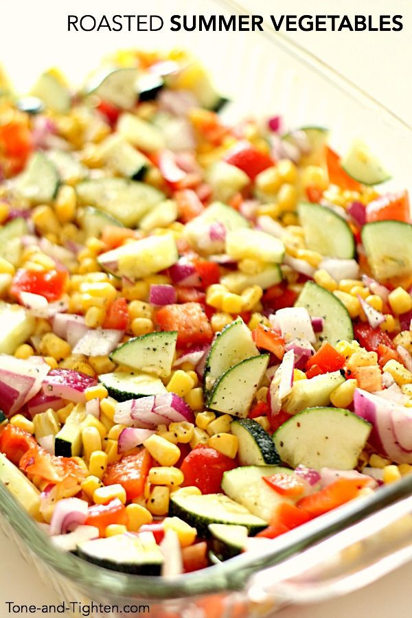 Roasted Summer Vegetables Recipe  1000 images about Tone and Tighten Healthy Recipes on