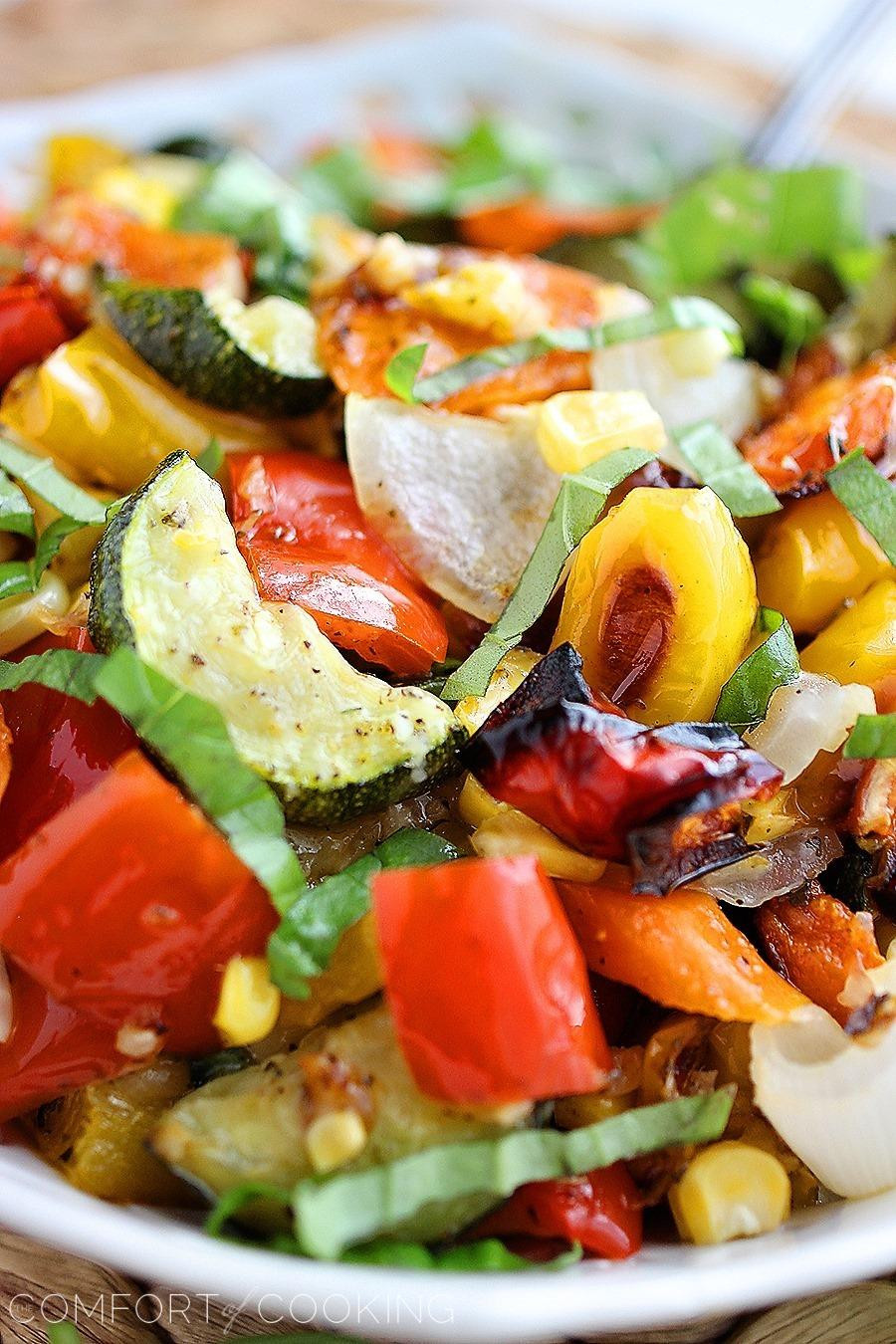 Roasted Summer Vegetables the top 20 Ideas About Easy Roasted Summer Ve Ables