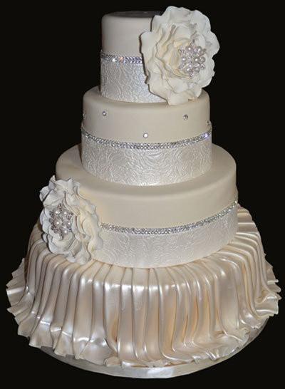 Romantic Wedding Cakes  10 Pretty Romantic Wedding Cakes