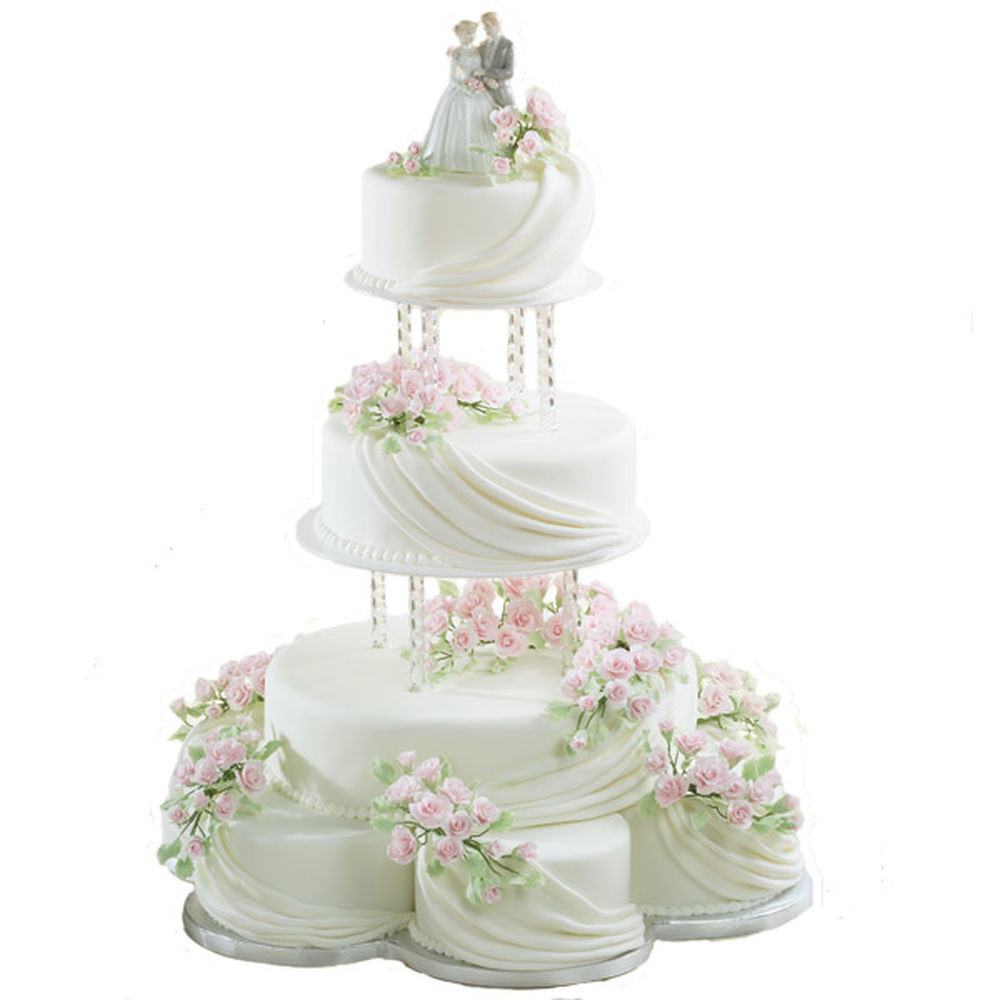 Romantic Wedding Cakes  Romantic Ripples Cake