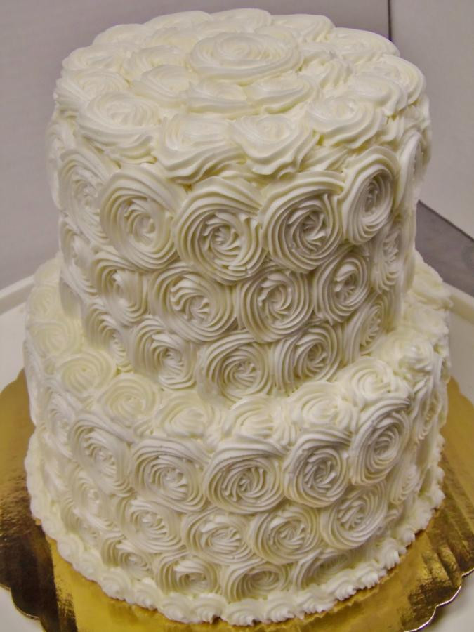 Rosette Wedding Cakes  Rosette buttercream 2 tier wedding cake cake by Nancy s