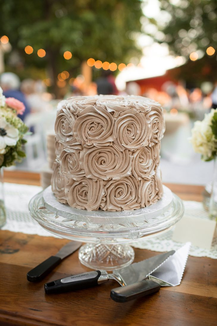 Rosette Wedding Cakes  Champagne Buttercream Rosette Wedding Cake