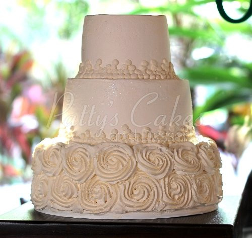 Rosette Wedding Cakes  3 tier wedding cakes Archives Page 2 of 4 Patty s