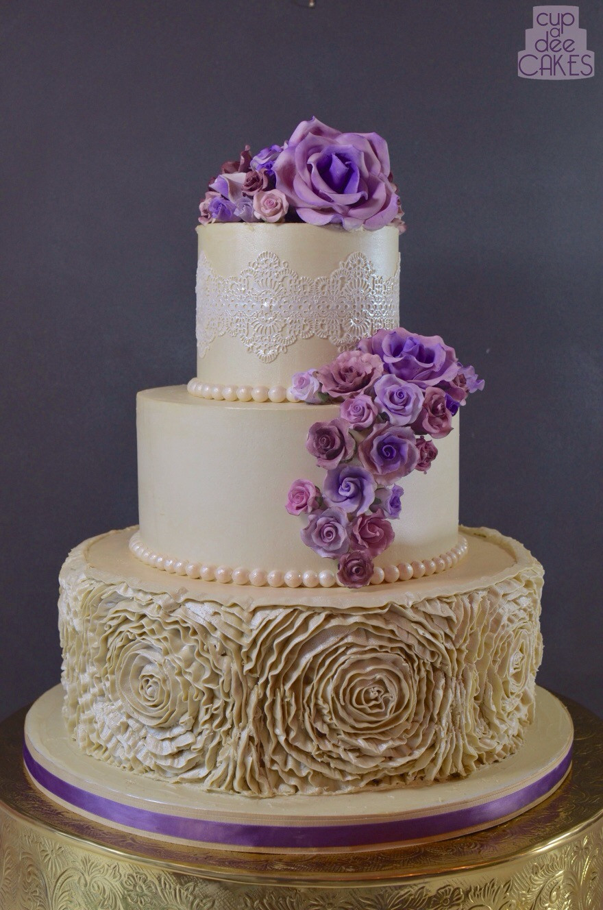 Rosette Wedding Cakes  Buttercream Rosette Ruffles