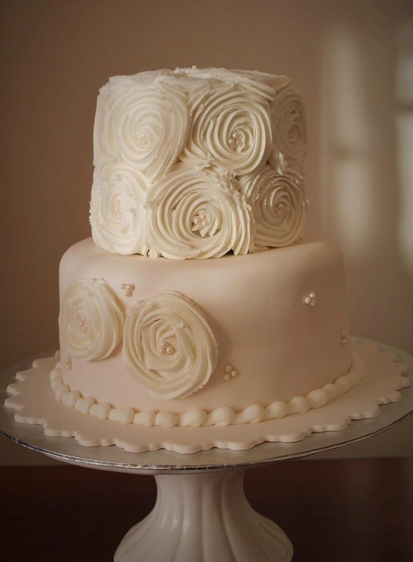 Rosette Wedding Cakes  Delana s Cakes Rosette Wedding Cake