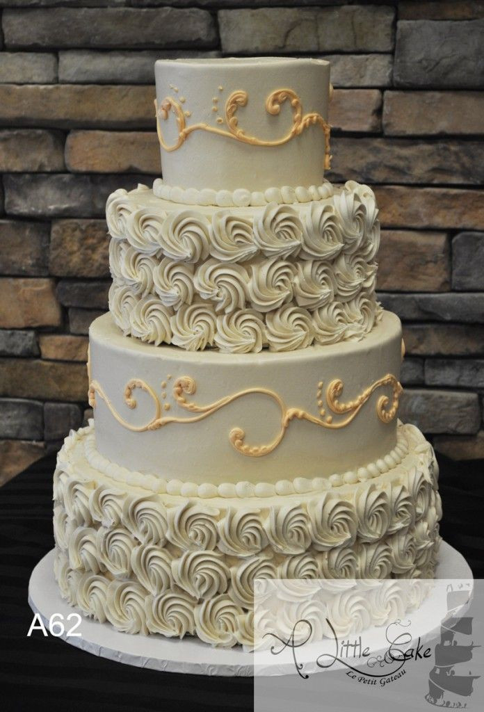 Rosette Wedding Cakes  17 Best images about Wedding Cakes with Rosettes on