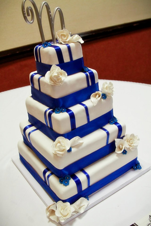 Royal Blue And Gold Wedding Cakes  Royal Blue Wedding Ideas And Wedding Invitations