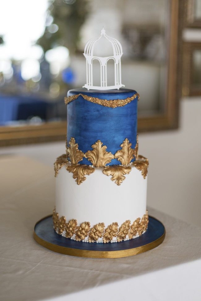 Royal Blue And Gold Wedding Cakes  Royal Blue Gold White Grecian Inspired Wedding Ideas
