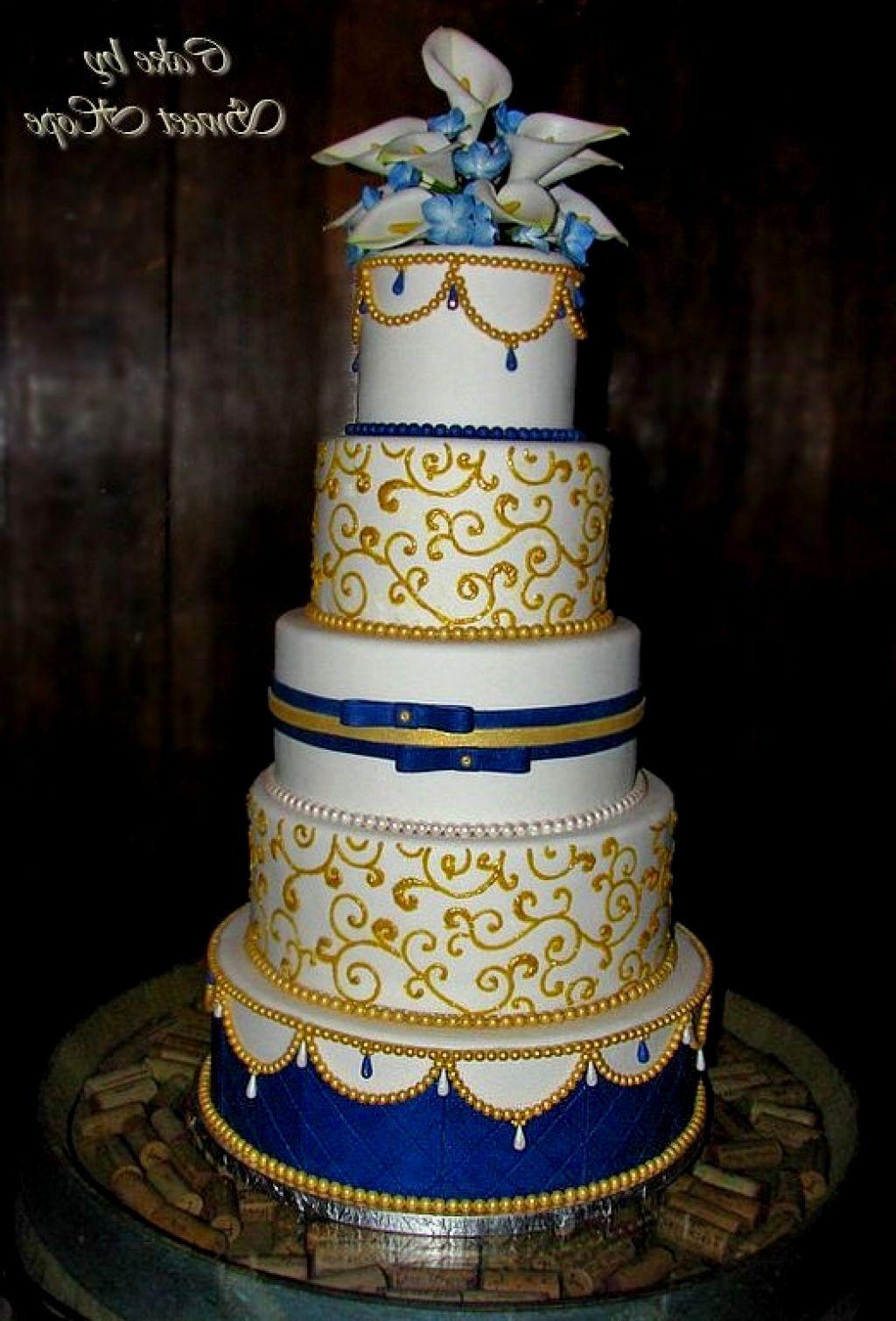 Royal Blue And Gold Wedding Cakes  Royal blue and gold wedding cakes idea in 2017