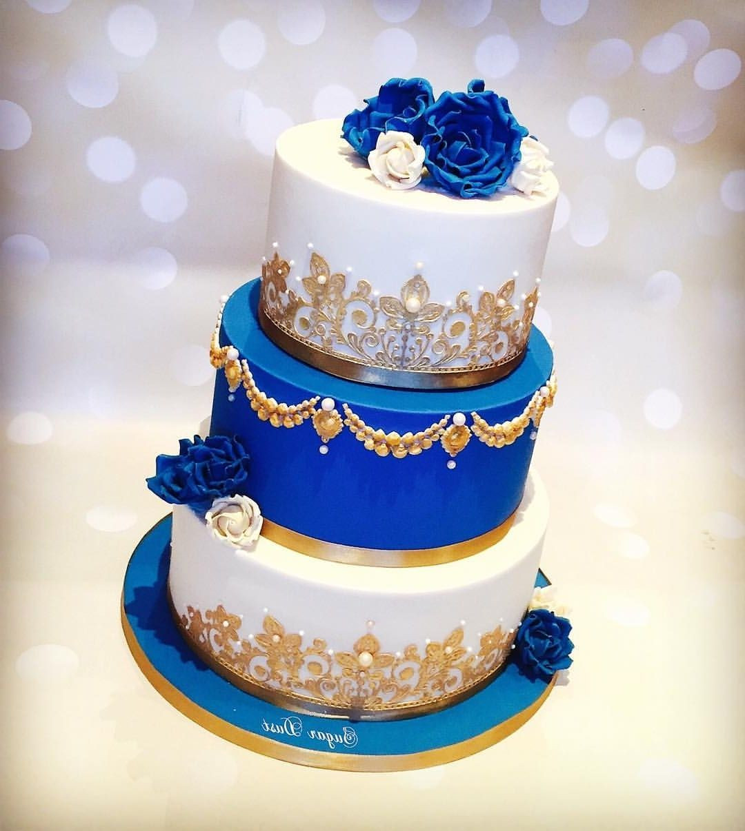 Royal Blue And Gold Wedding Cakes  Wedding Cakes Royal Blue And Gold