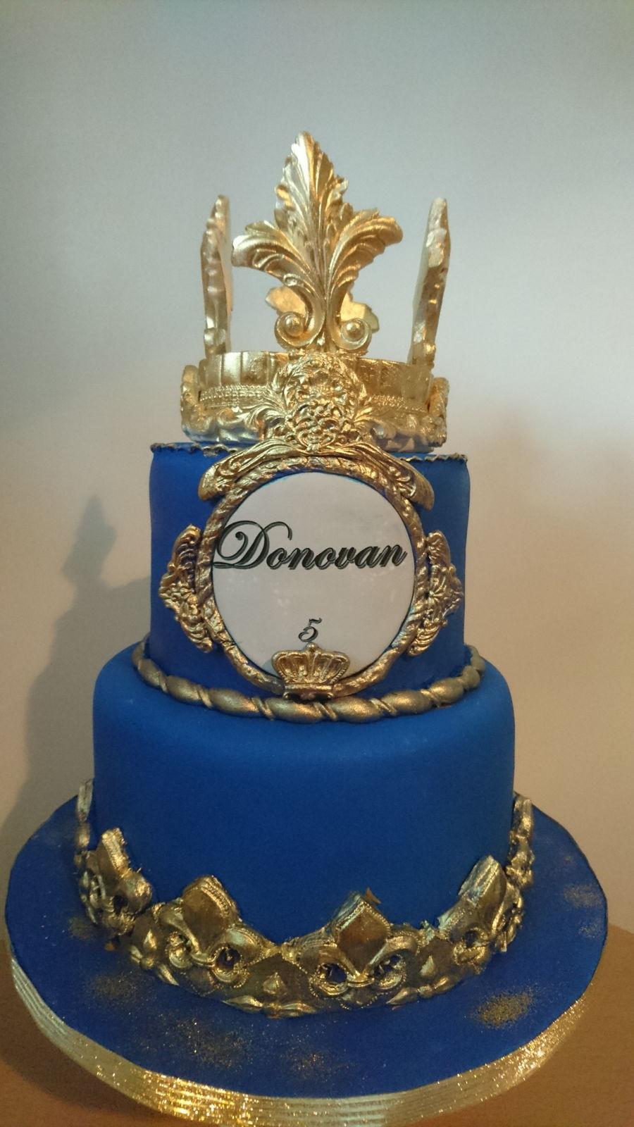 Royal Blue And Gold Wedding Cakes  Donovan Cake Royal Cake Blue And Gold CakeCentral