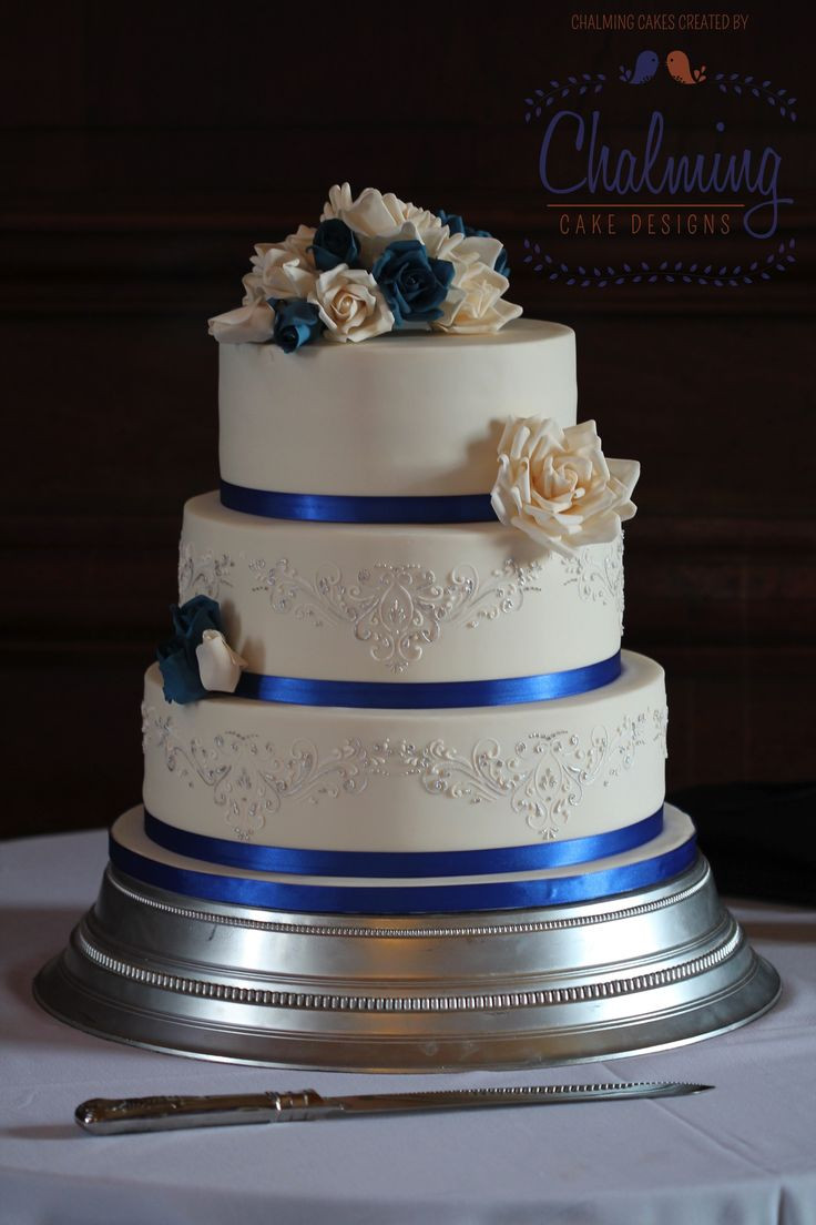 Royal Blue And Silver Wedding Cakes  10 of the Best Colors that Go with Royal Blue EverAfterGuide