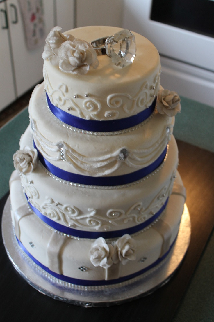 Royal Blue And Silver Wedding Cakes  Royal Blue and Silver Cake Cake Decorating