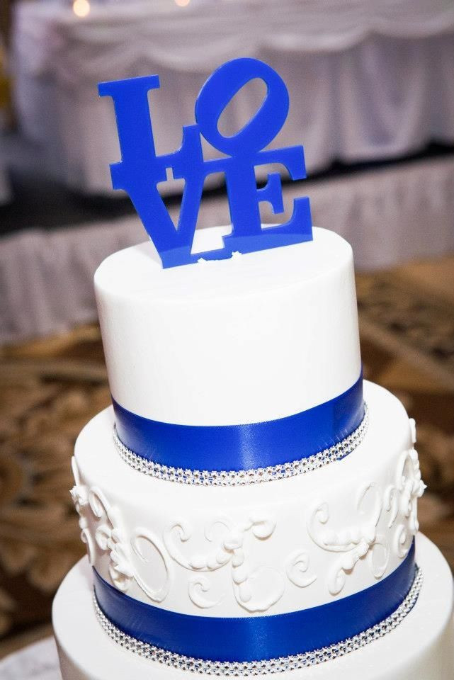 Royal Blue Wedding Cakes Designs  Wedding cake topper Royal blue