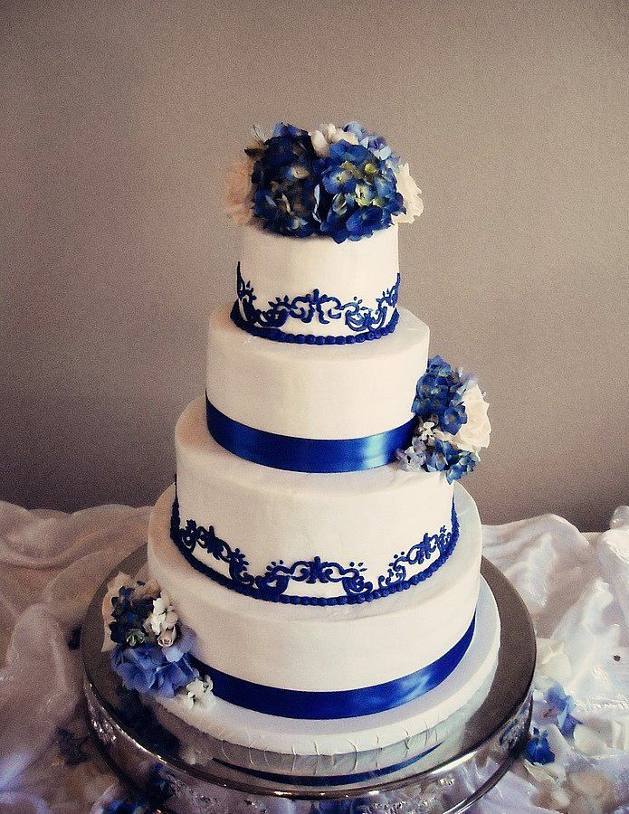 Royal Blue Wedding Cakes Designs  Top Design of Royal Blue Wedding Cakes for Ideas Wedding