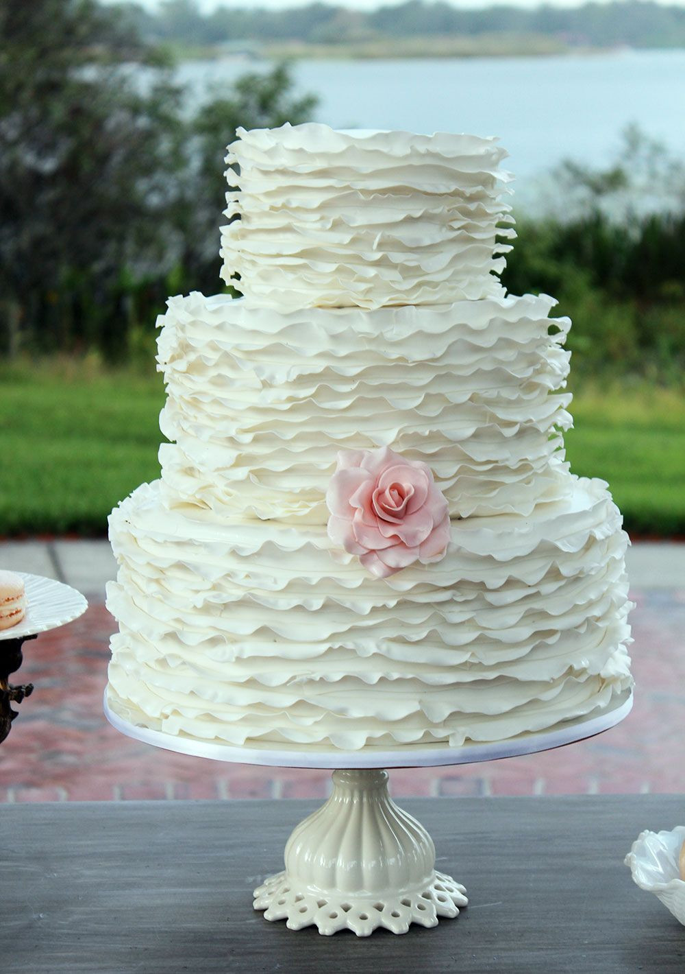 Royal Icing Flowers For Wedding Cakes  Rose Cage Cake Makes Cake Central Magazine with Royal