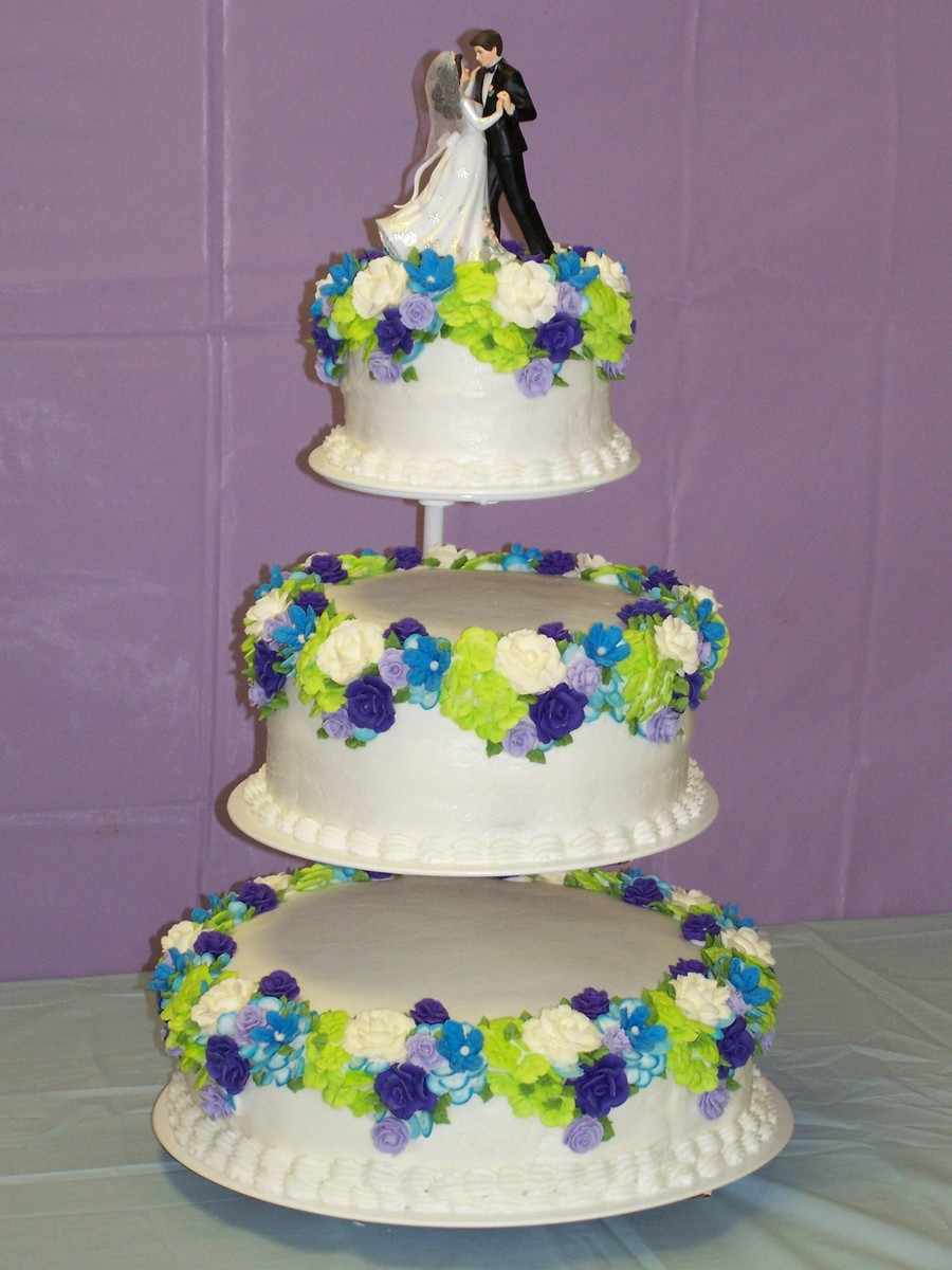 Royal Icing Flowers For Wedding Cakes  Royal Icing Flowers In Blue Purple And Lime