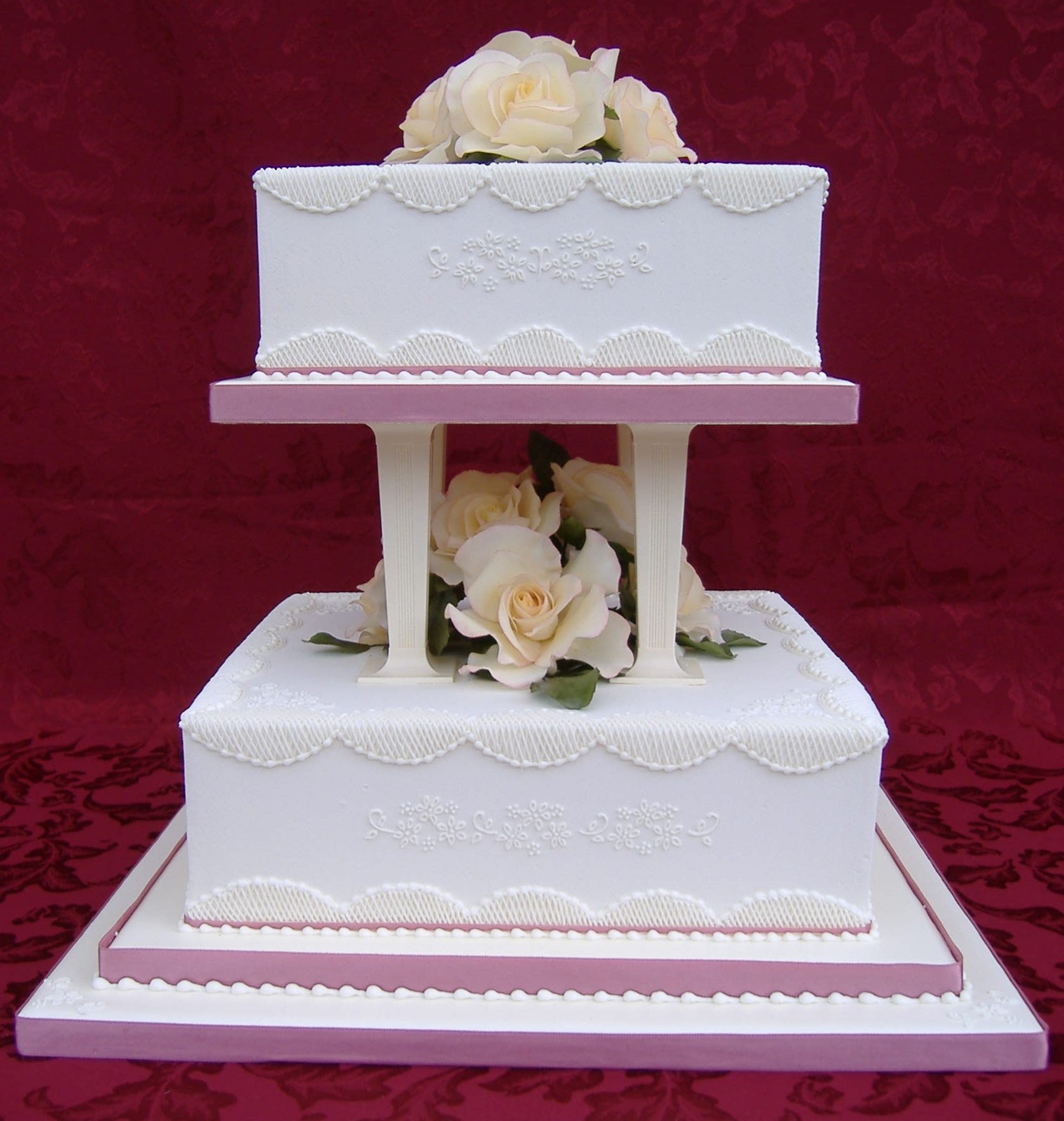 Royal Icing Wedding Cakes  Galleries royal iced wedding cakes Donna Jane Cakes