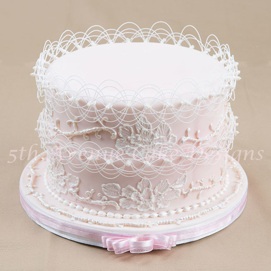 Royal Icing Wedding Cakes  Wedding Cake Piped With Royal Icing CakeCentral