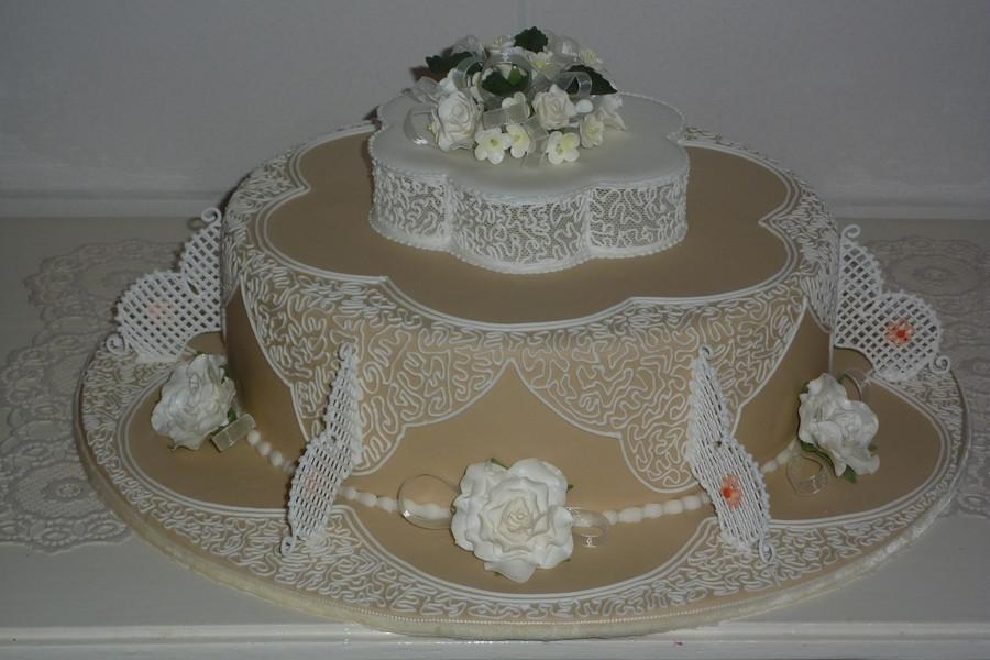 Royal Icing Wedding Cakes  Wedding Cake Filigree Royal Icing CakeCentral