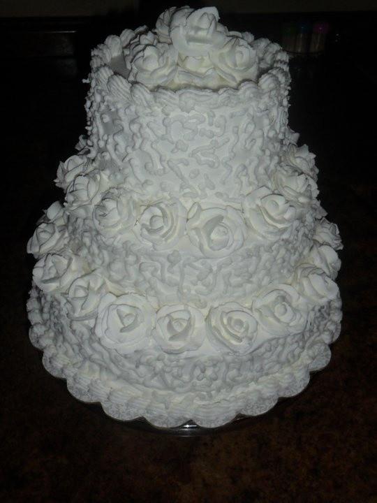 Royal Icing Wedding Cakes  Royal Icing White Elegance Wedding Cake Cakes