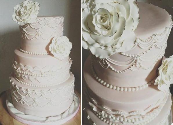 Royal Icing Wedding Cakes  Scallop Piping & Scalloped Cake Designs – Cake Geek Magazine