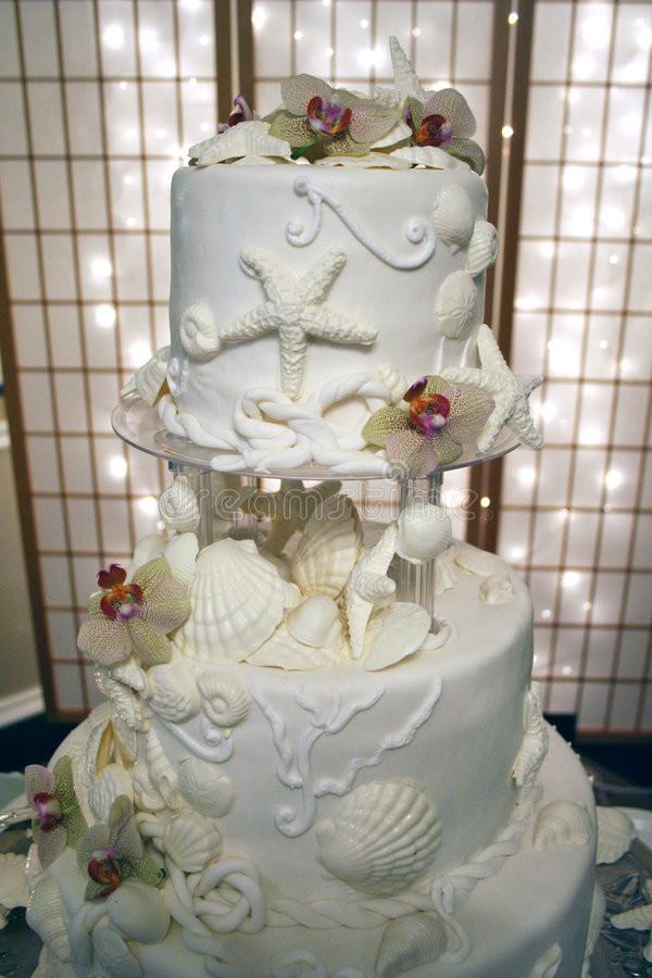 Royalty Wedding Cakes  Sea Shell Wedding Cake Royalty Free Stock Image Image