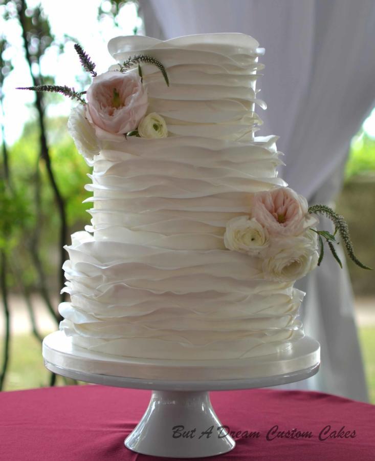 Ruffle Wedding Cakes  Ruffled wedding cake cake by Elisabeth Palatiello