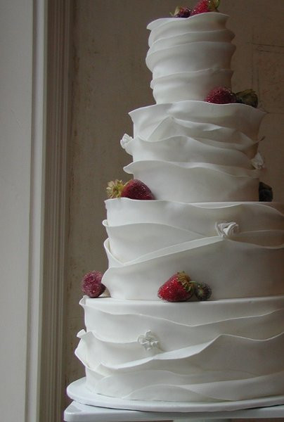 Ruffle Wedding Cakes  ruffled wedding cakes