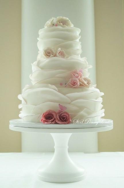 Ruffle Wedding Cakes  Wedding Cake Wednesday Ruffle Cakes