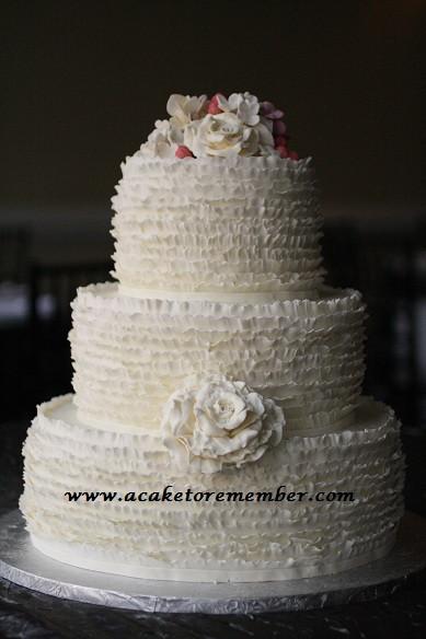 Ruffle Wedding Cakes  ruffle wedding cakes