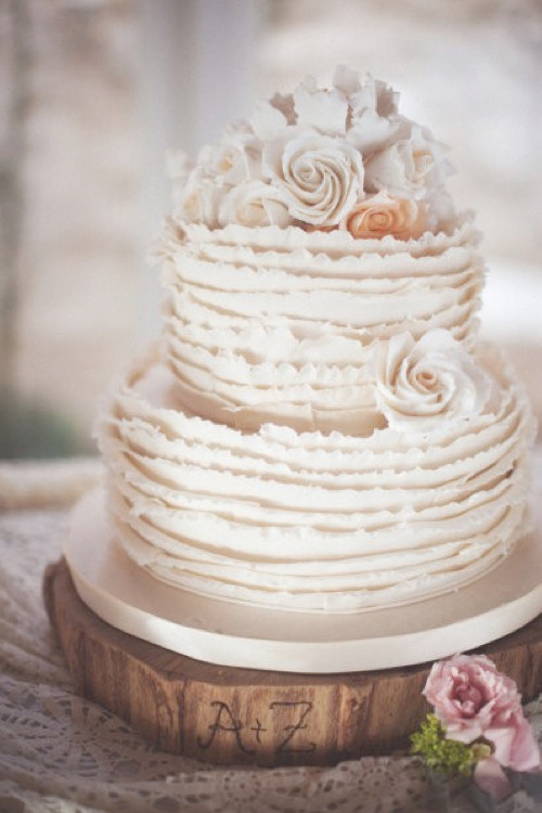 Ruffle Wedding Cakes  Ruffle Wedding Cake Weddings By Lilly