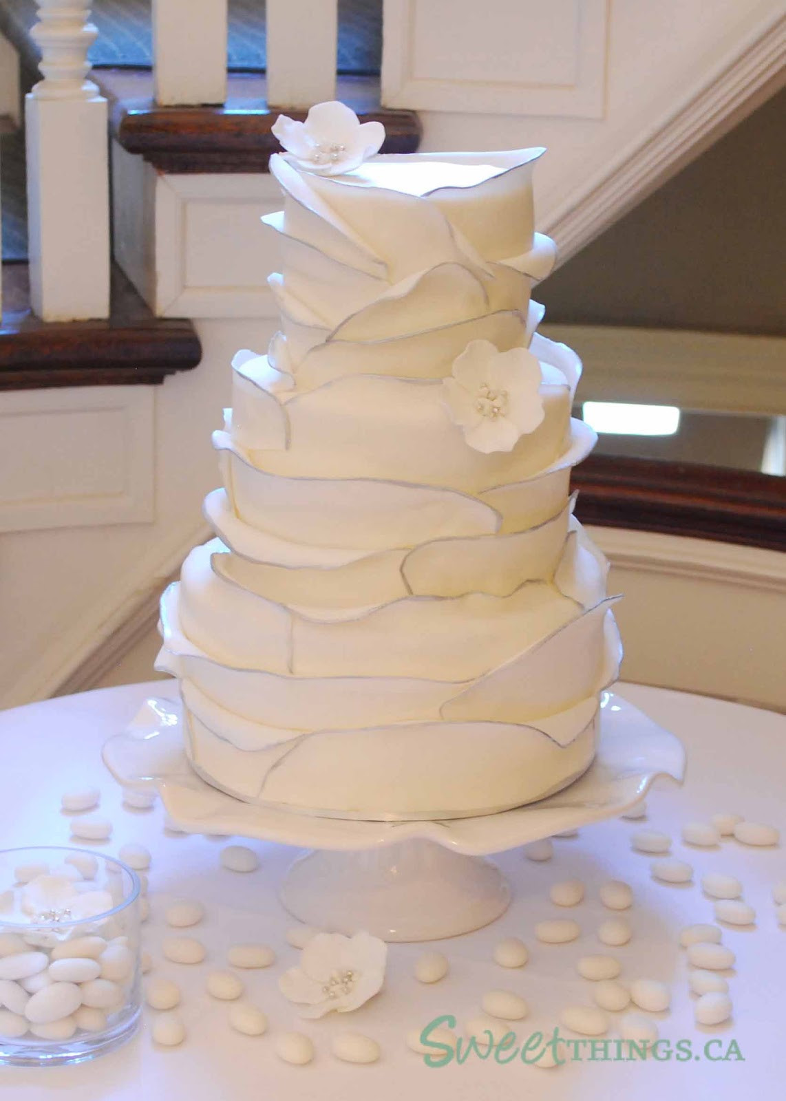Ruffle Wedding Cakes  SweetThings Ruffled Wedding Cake