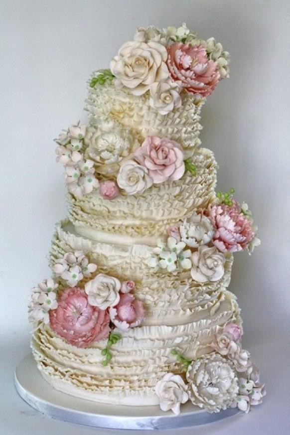 Ruffled Wedding Cakes  Ruffle Wedding Cakes ♥ Wedding Cake Design Weddbook