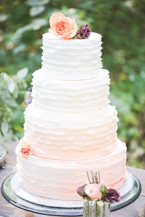 Ruffled Wedding Cakes  26 Oh So Pretty Ombre Wedding Cake Ideas