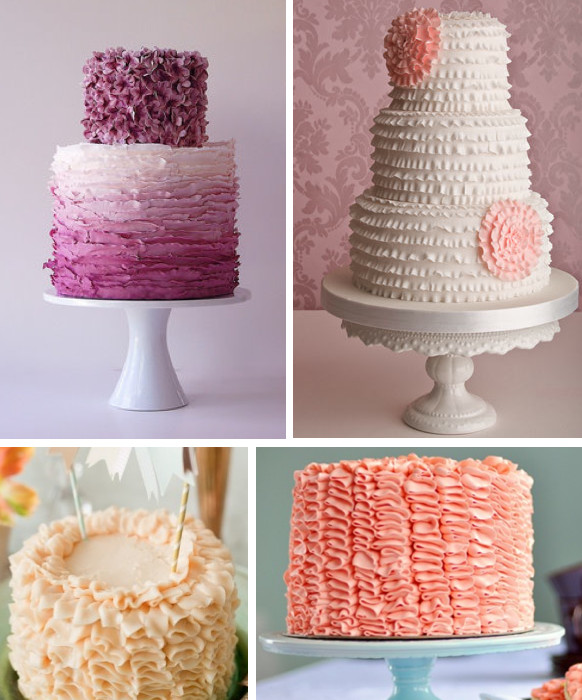 Ruffled Wedding Cakes  Ask Cynthia  Ruffled Wedding Cakes